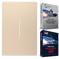 LaCie Porsche Design USB-C 2TB Portable Hard Drive with FREE AntiVirus Software (Rose Gold)