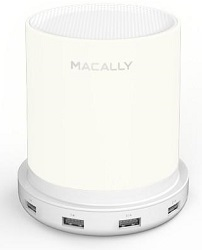Macally LampCharge Dimmable Table Lamp with 4 USB Charging Ports