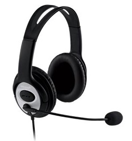 Microsoft LifeChat LX-3000 Headset with Rosetta Stone Language Learning Certification LARGE