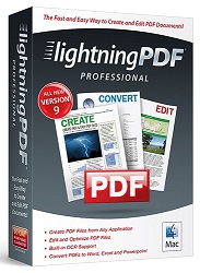 Avanquest Lightning PDF Professional 9 for Mac (Download) LARGE