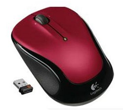 Logitech M325 Wireless Mouse (Red)