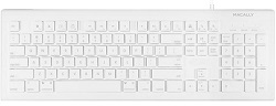 MacAlly 104 Key Full-Size USB Keyboard with Short-Cut Keys for Mac LARGE