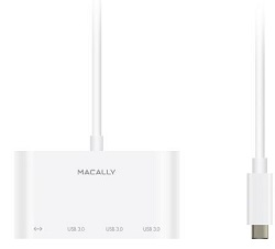 MacAlly USB-C to USB-A Hub with Ethernet Adapter