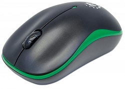 Manhattan Success 1000 dpi Wireless Optical Mouse (Black/Green) LARGE