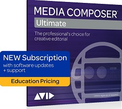 Avid Media Composer Ultimate Academic 1-Year Subscription LARGE
