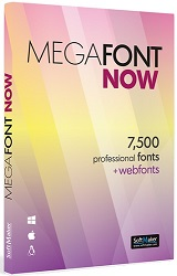 MegaFont NOW 7,500 Professional Fonts for Mac/Windows/Linux (Download) LARGE