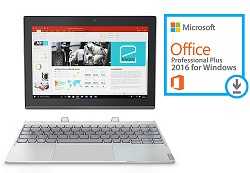 "Lenovo Ideapad Miix 320 10.1"" Intel Atom X5 2GB 64GB eMMC 2-in-1 Tablet PC with Office Pro 2016"