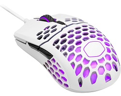 Cooler Master MM711 Gaming Mouse with RGB Accents (Matte White) LARGE
