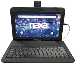 "NAXA 10.1"" Quad-Core Android 8.1 Tablet with Micro USB Keyboard (On Sale!) LARGE"