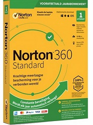Symantec Norton 360 Standard 1-Year Subscription for 1 Device (Download) LARGE