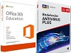AntiVirus 2019 with FREE Microsoft Office 365 Education (Windows Download)