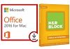 Microsoft Office 2016 for Mac - Students with H&R Block Basic 17 (Download) MAC