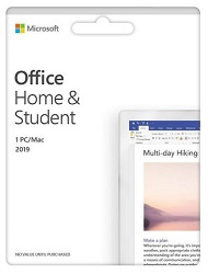 Microsoft Office Home & Student 2019 for Mac or Windows with FREE iClipArt Subscription (Download)