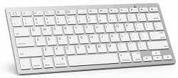 Omotron Ultra-Slim Bluetooth Keyboard for Apple iPad & iPhone (White) LARGE