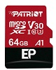 Patriot Memory EP A1 Class 10/UHS-I microSD Card with Android A1 App Classification SWATCH