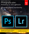 Adobe Creative Cloud Photoshop Photography Plan for Students & Teachers (1 Year Sub - Download)