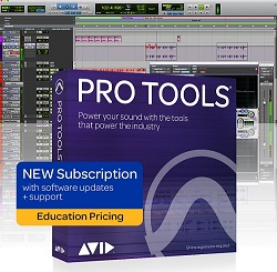 Avid Pro Tools Academic 1-Year Subscription with 1-Year Software Updates + Support Plan (Download) LARGE