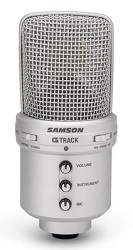 Samson G-Track USB Condenser Microphone with Audio Interface  & FREE 15Ft Cable