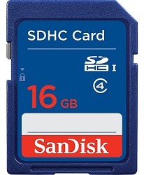 SanDisk Ultra SDHC Class 10 UHS-I Memory Card 16GB LARGE