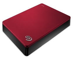 Seagate Backup Plus 4TB Portable USB 3.0 External Hard Drive (Red)