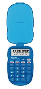 Sharp EL-S10BPK  Handheld Calculator with Cover (Blue) LARGE