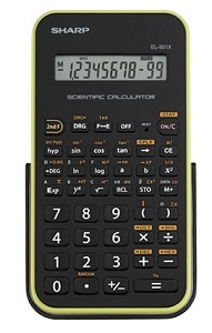 Sharp EL501X Scientific Calculator (Black/Green)