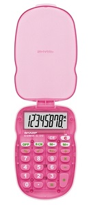 Sharp EL-S10BPK  Handheld Calculator with Cover (Pink) LARGE