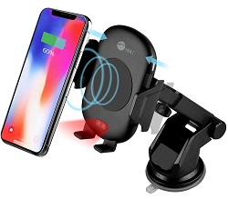 SIIG Auto-Clamping Wireless Car Charger Mount/Stand LARGE