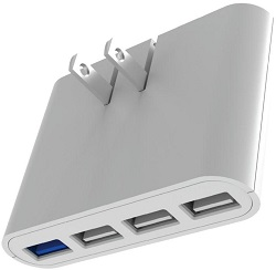 iHome AC Pro 4-Port USB Slim Wall Charger LARGE