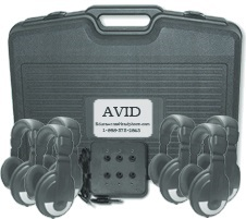 Avid SM-25 Over-Ear Headphones Listening Center with Jack Box LARGE