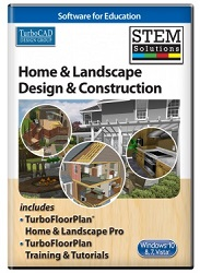 TurboCAD Home and Landscape Design and Construction for Windows STEM Solution (ESD)
