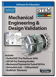 TurboCAD Mechanical Engineering and Design Validation STEM Solution (ESD)