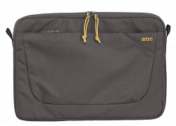 "STM Blazer Laptop Sleeve for 15"" Notebooks with FREE Portable Charger (Steel)"