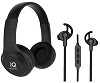 Supersonic IQ Sound Wireless Bluetooth Headphones & Earphones Combo Kit (3 Colors)