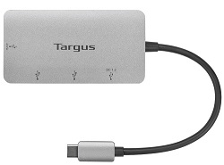 Targus USB-C Multi-Port Hub with 3x USB-A Ports and 1x USB-C Port with 100W PD Pass-Thru LARGE