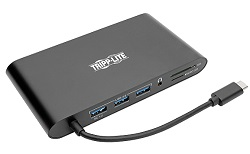 Tripp Lite USB-C Docking Station for PCs, Chromebooks, Tablets & Smartphones LARGE