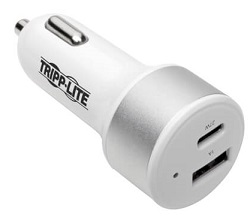 Tripp Lite Dual-Port USB Car Charger with PD Charging LARGE