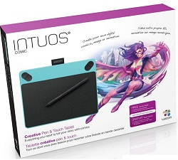 Wacom Intuos Comic Blue Tablet with FREE iClipArt Subscription (Small)