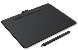 Wacom Intuos Creative Bluetooth Wireless Black Tablet with FREE iClipArt (Medium) LARGE