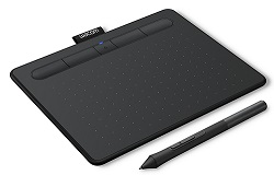 Wacom Intuos Creative Bluetooth Wireless Black Tablet with FREE iClipArt (Small) LARGE