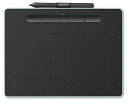 Wacom Intuos Creative Bluetooth Wireless Pistachio Tablet with FREE iClipArt (Small) LARGE