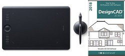 Wacom Intuos Pro Tablet with Pro Pen 2 & TurboCAD DesignCAD 2018 for Windows (Medium) (On Sale!)