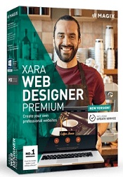 MAGIX Xara Web Designer Premium with 1Yr Online Content Catalog Subscription & Templates (Download)