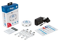 Limitless Innovations ChargeHub Round 7-Port USB Charging Station Super Value Pack (White)