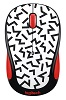 Logitech M325c Party Collection Wireless Mouse (Zigzag Red)