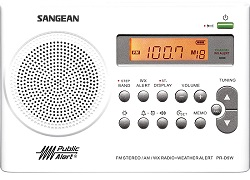 Sangean PR-D9W AM/FM/Weather Alert Rechargeable Portable Radio