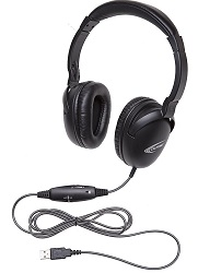 Califone NeoTech Plus Series USB Headset with Mic for Classrooms LARGE