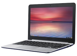 "ASUS Chromebook C201 Series C201PA-DS02 11.6"" 4GB RAM Chromebook PC (Navy Blue)"