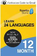 Rosetta Stone: Learn 24 Languages - 12 Month Subscription (PC/Mac Online Code) THUMBNAIL