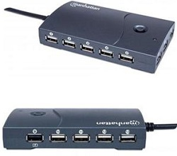 Manhattan Hi-Speed 13-Port Desktop USB Hub